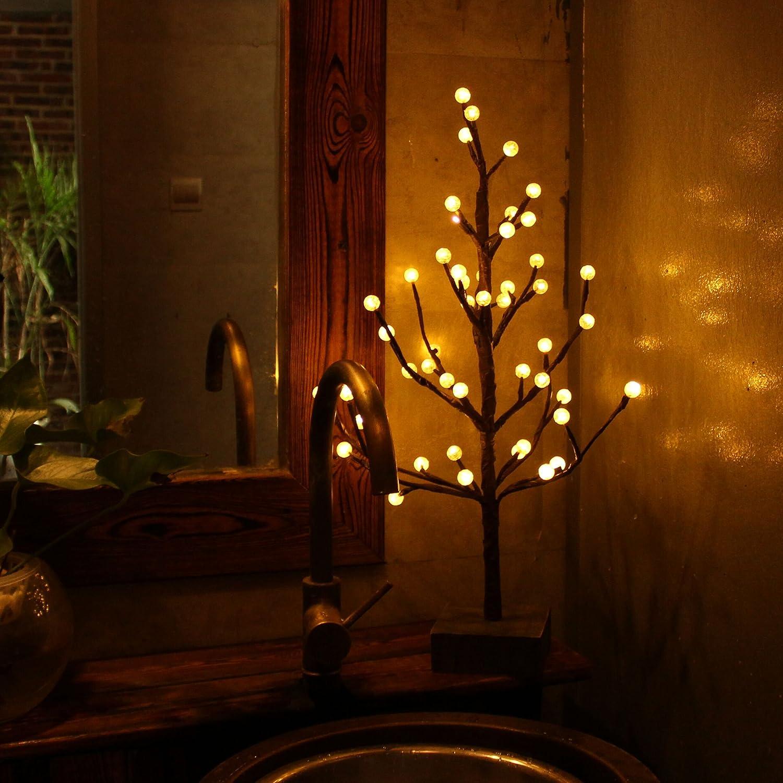 Weihnachtsdeko Lichter Innen.Led Lichterbaum Mit 48er Leds Beleuchtet Malivent Led Baum Lichter