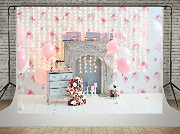 amazon com 7x5ft happy birthday wall photography backdrops pink