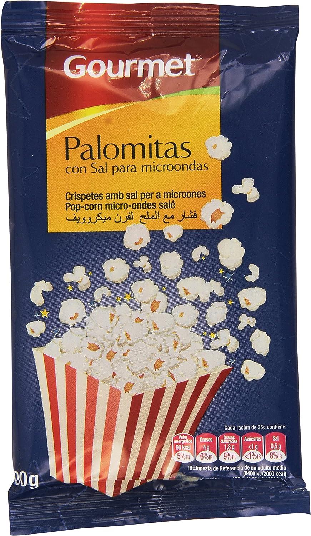 Gourmet - Palomitas con sal para microondas - 100 g: Amazon.es ...