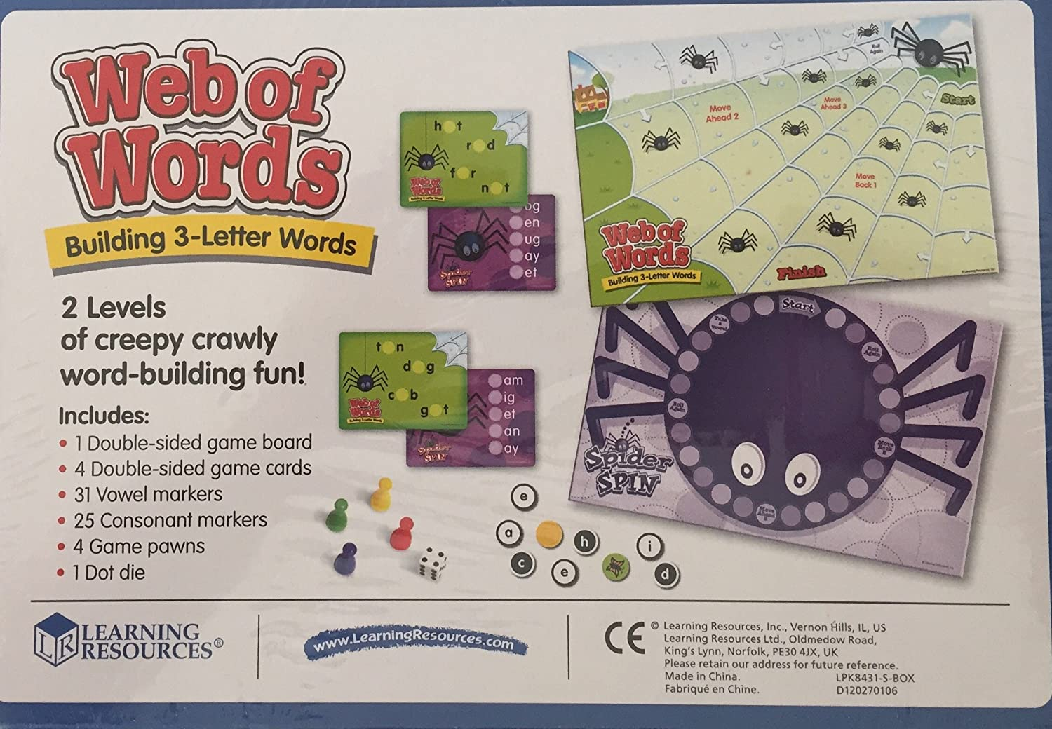 Amazon Childs Kids Boys Girls Game Of Web Of Words And Spider