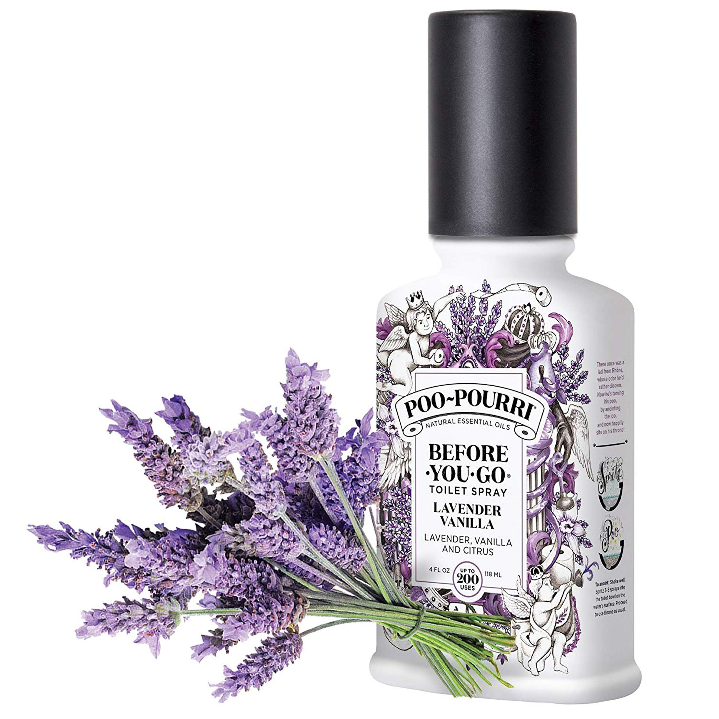 Poo-Pourri Lavender Vanilla, Tropical Hibiscus and Vanilla Mint 4-Ounce Set by Poo-Pourri (Image #6)