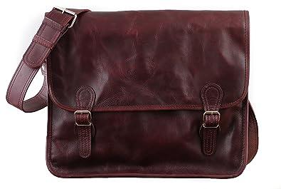 LA SACOCHE (M) besace en cuir souple couleur Brun d'automne format A4 style Vintage PAUL MARIUS aNHdpZT
