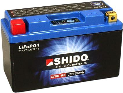 Motorrad Batterie Shido Lithium Lt9b Bs Yt9b Bs 12v 8ah Maße 150x70x105 Auto