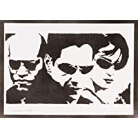 Poster The Matrix Neo Trinity E Morfeo Handmade Graffiti Street Art - Artwork
