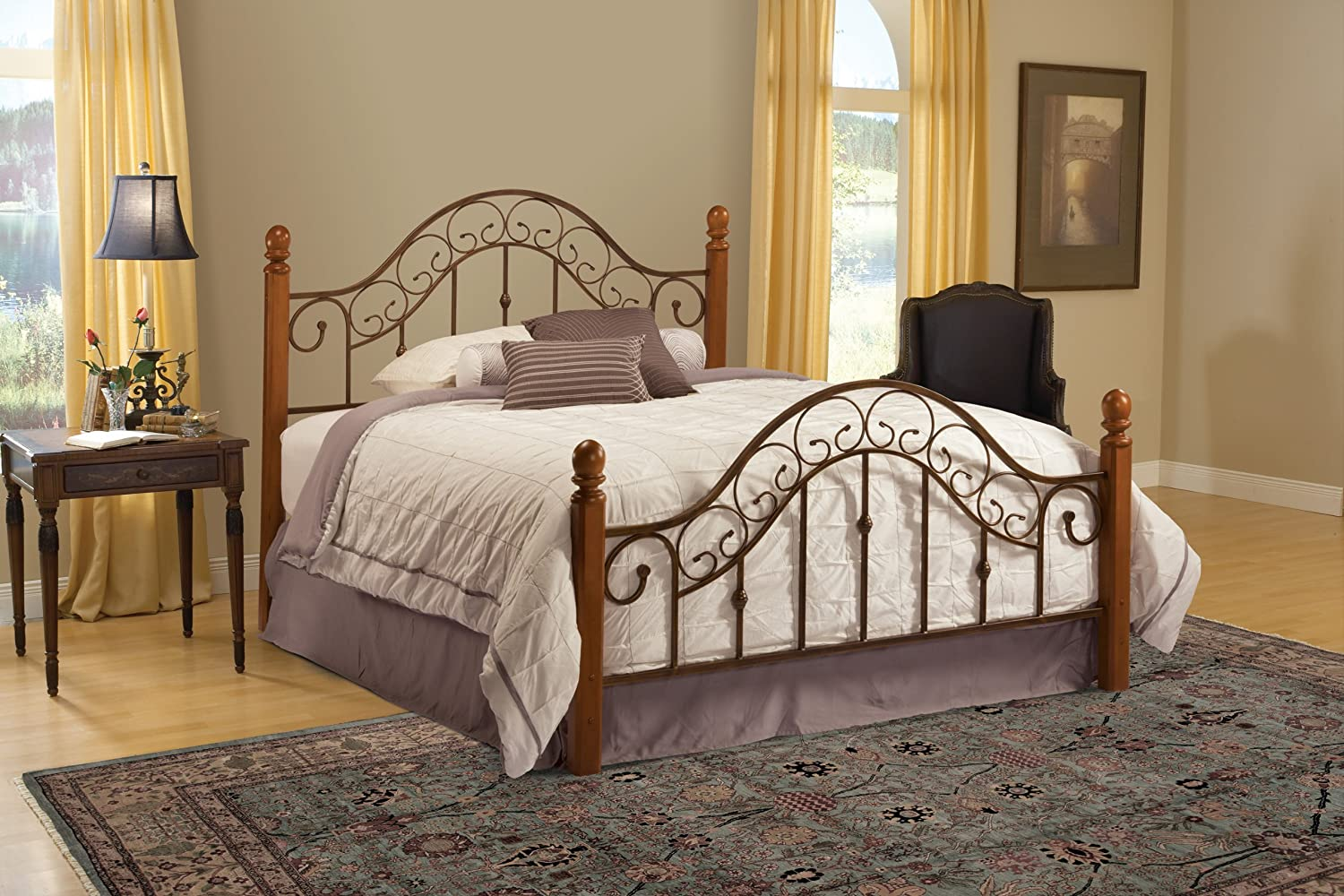 and fashion metal posts group califonia king argyle grill diamond wire beds headboard copper headboards design p with bed finish in round size finial chrome