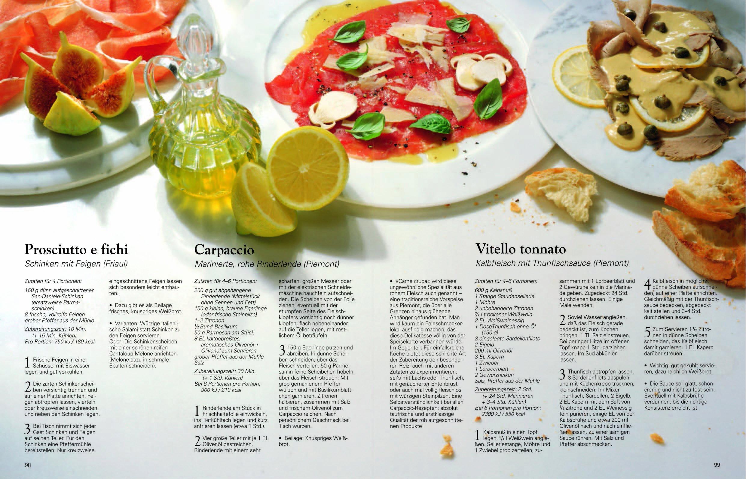 Die echte italienische Küche Typische Rezepte und kulinarische Impressionen aus allen Regionen Amazon Sabine Sälzer Reinhardt Hess Franco Benussi