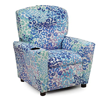 CHILDRENS TODDLER RECLINER CHAIR CUPHOLDER, Kids Reclining Upholstered  Armchair, Childs Seating That Reclines,