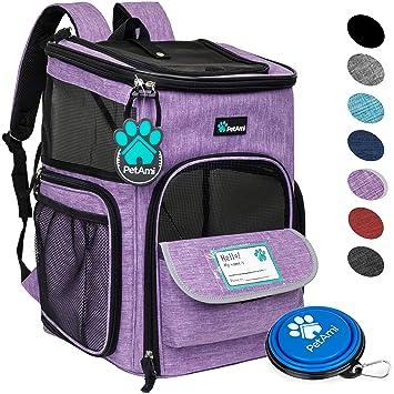 Amazon.com: PetAmi Mochila transportadora de mascotas para ...