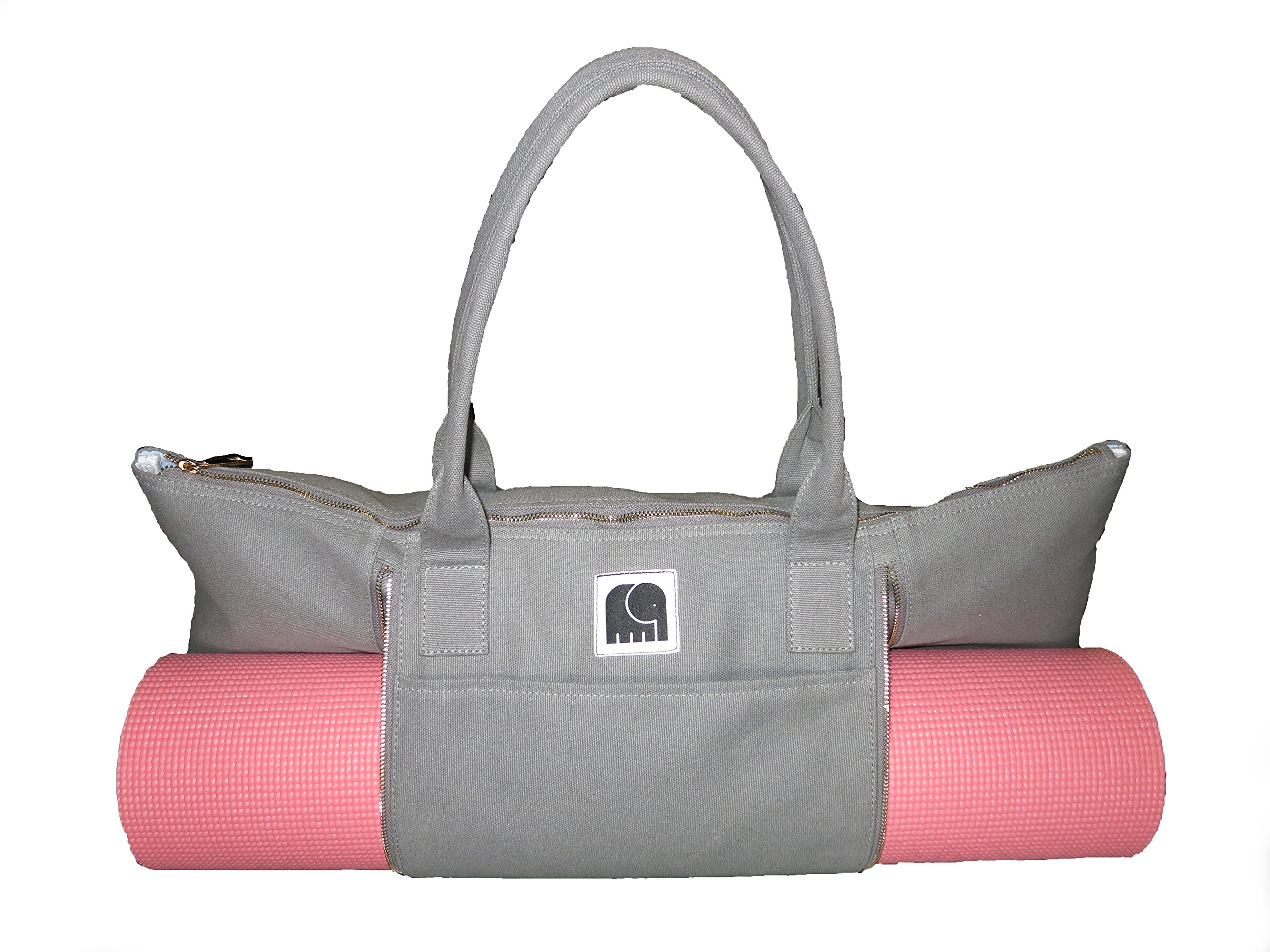 Yoga Mat Bag by Mantra Yoga | Gym Tote Bag for Yoga | Large Yoga Tote Bag - Canvas | ''Mantra: Happiness for the Soul''