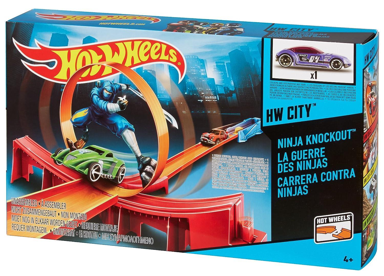 Mattel Hot Wheel - Pista Gravity - Carreras contra Ninjas ...