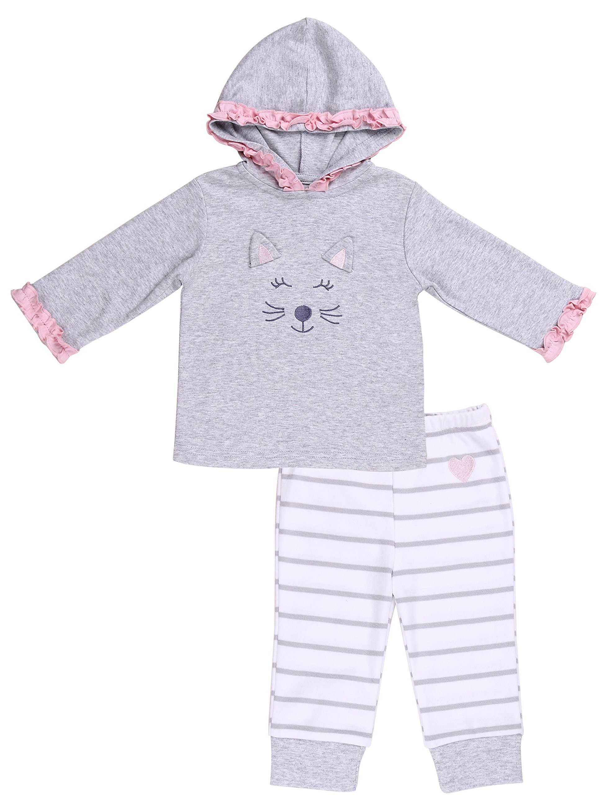 CDM product Asher and Olivia Baby Girls' 2-Piece Hoodie with Pants big image