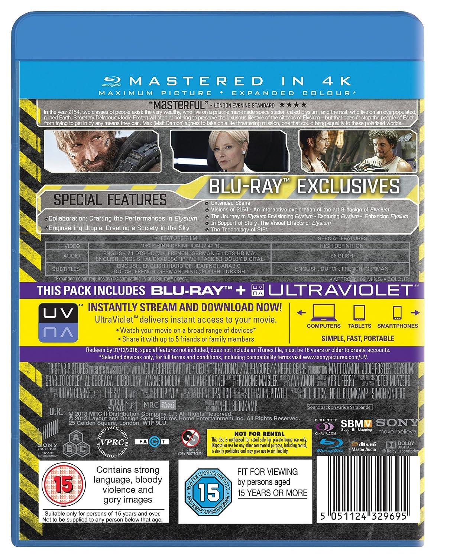 Elysium [Reino Unido] [Blu-ray]: Amazon.es: Matt Damon ...