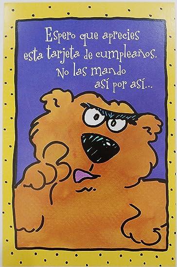 Amazon.com : Feliz Cumpleanos / Felicidades - Funny Humor ...