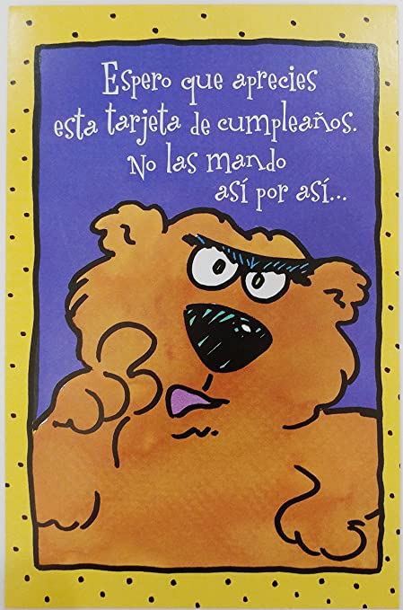 feliz cumpleanos felicidades funny humor happy birthday greeting card in spanish
