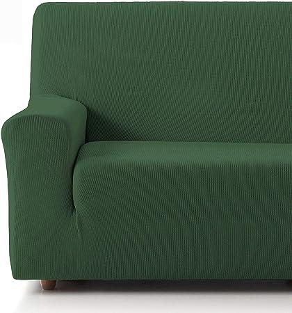 Oferta amazon: Eiffel Textile Funda Sofa Elastica Protector Adaptable Rústica Sofá 4 Plazas, 50% Poliéster, Verde