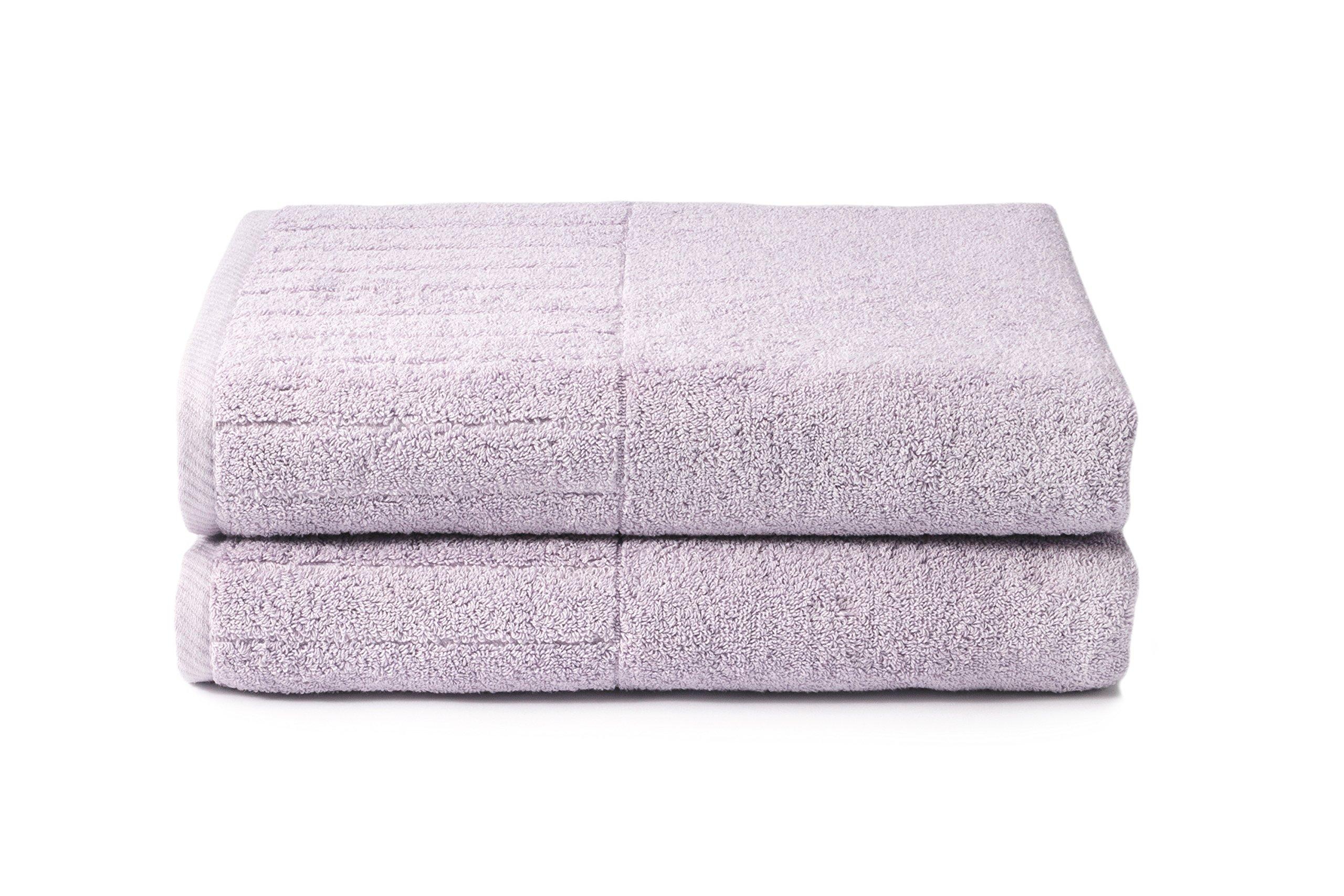 Texere 100% Organic Cotton Bath Sheets (2-Pack, Orchid Hush) Eco-Friendly Christmas Kwanza Hanukah Gift Ideas