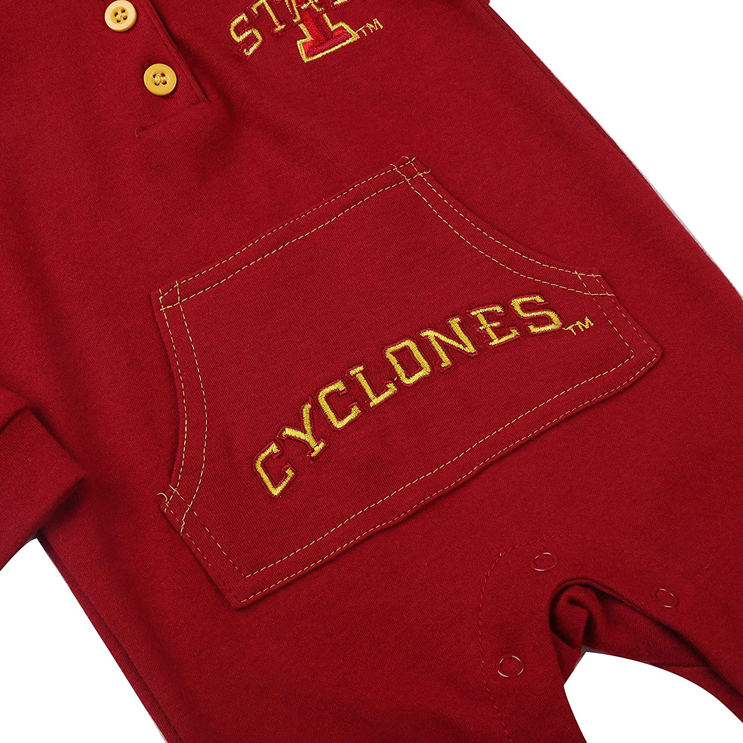 Fast Asleep Pjs Iowa State Cyclones Baby and Toddler Hooded
