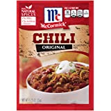 McCormick Chili Seasoning Mix, 1.25 oz, Make Every Night Chili Night With This Delicious, Expertly Blended Seasoning Mix, No MSG, Artificial Flavors or Added Colors