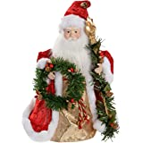 WeRChristmas Red & Gold Santa Decoration Christmas Tree Top Topper-30cm