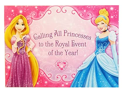 amazon com disney princess party invitations 16 invitations and 16