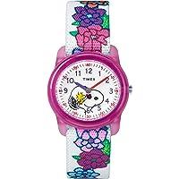 Timex Kids TW2R41500 Time Machines Peanuts Snoopy Woodstock Elastic Fabric Strap Watch