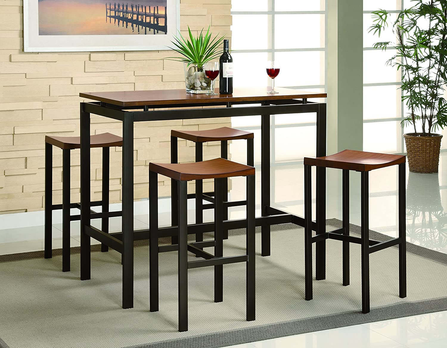 Coaster Home Furnishings 150097 5-Piece Casual Dining Room Set - Black