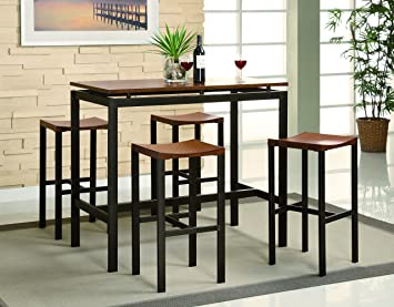 Amazon.com - Coaster Home Furnishings 150097 5-Piece Casual Dining ...