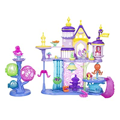 My Little Pony: The Movie Canterlot & Seaquestria Castle with Light-Up Tower: Toys & Games