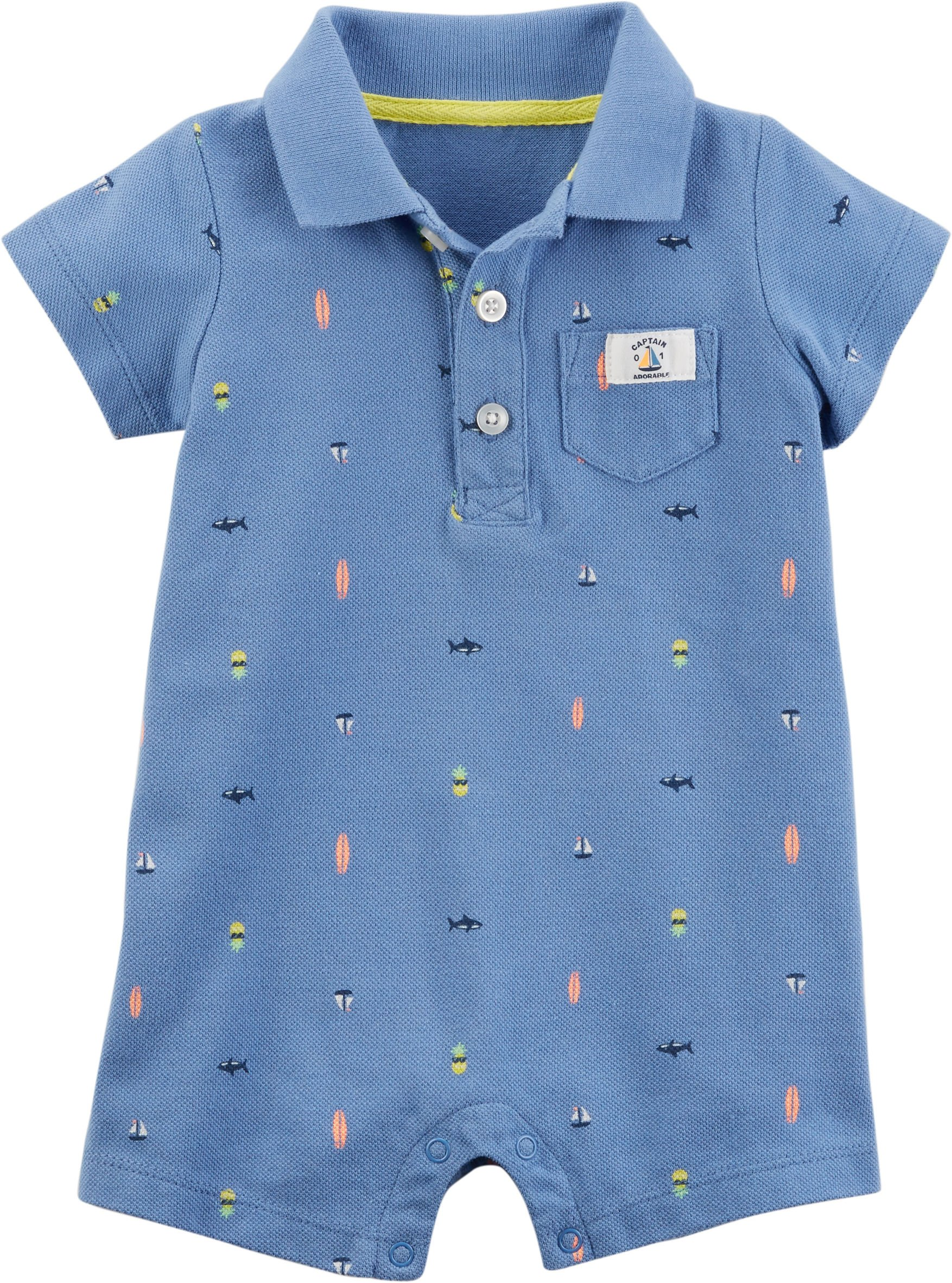 Carter's Baby Boys Whale Schiffli Creeper (24 Months, Blue Sea)