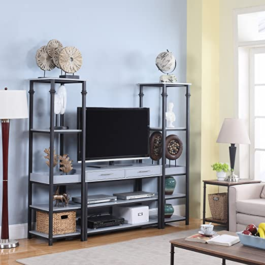 amazoncom modern 3 piece gaming entertainment center tv stand grey kitchen dining amazoncom altra furniture ryder apothecary