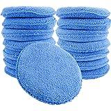 Augshy 15 Pcs Standard Microfiber Applicator Pads - Blue Wax Applicator