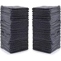 "Simpli-Magic Cotton Washcloths 12"" x 12"", Gray 24 Pack"