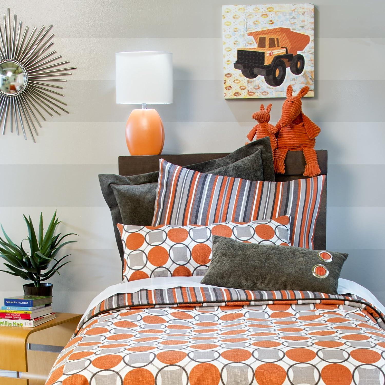 Sweet Potato Echo Small Sham Bedding Set Tangerine//Orange//Ivory//Cream//Stone//Grey//Taupe//Brown//Chocolate Glenna Jean 63414