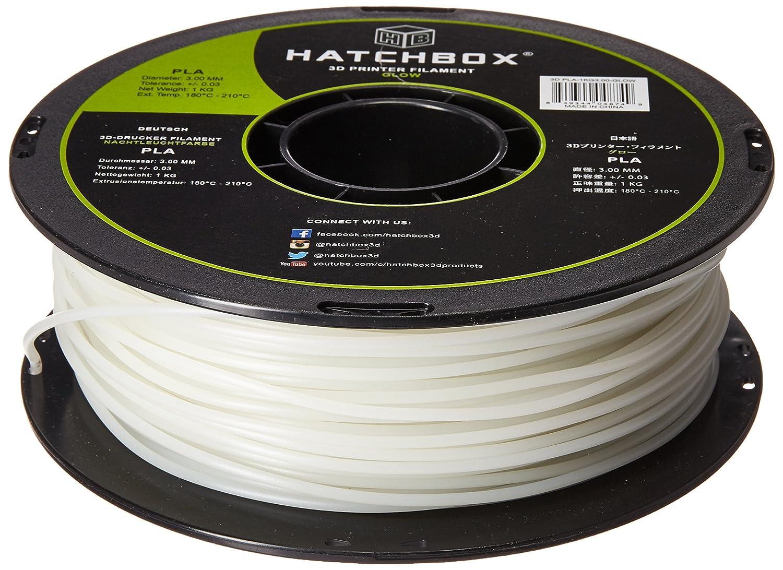 Amazon.com: HATCHBOX 3D PLA-1KG3.00-GLOW PLA 3D Printer Filament ...