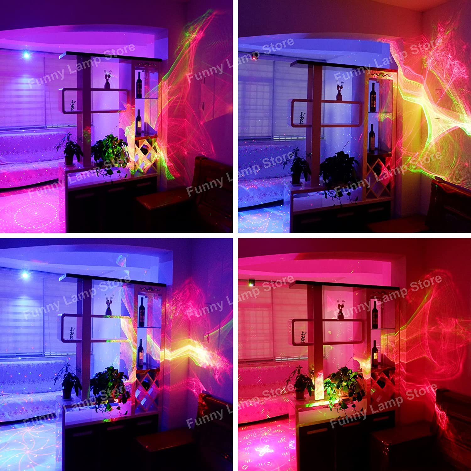 SUNY LL A200RG Aurora Laser Red Green Color Galaxy Wavy Full LED Light Stage  Lighting Projector ...