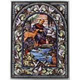 Amazon Com Design Toscano Stained Glass Panel Little Boy Guardian