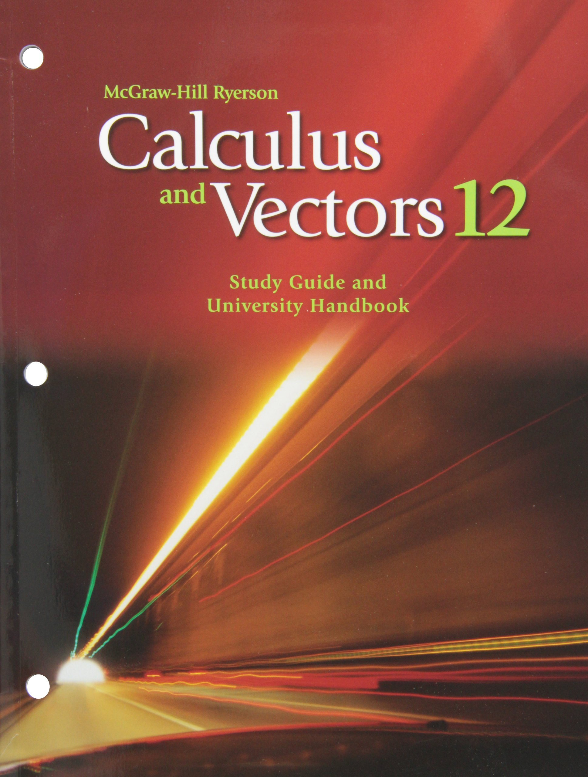 Calculus and Vectors 12 Study Guide and University Handbook: unknown:  9780070735897: Amazon.com: Books
