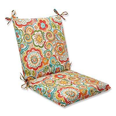 Pillow Perfect Outdoor Bronwood Carnival Squared Corners Chair Cushion, Multicolored: Home & Kitchen