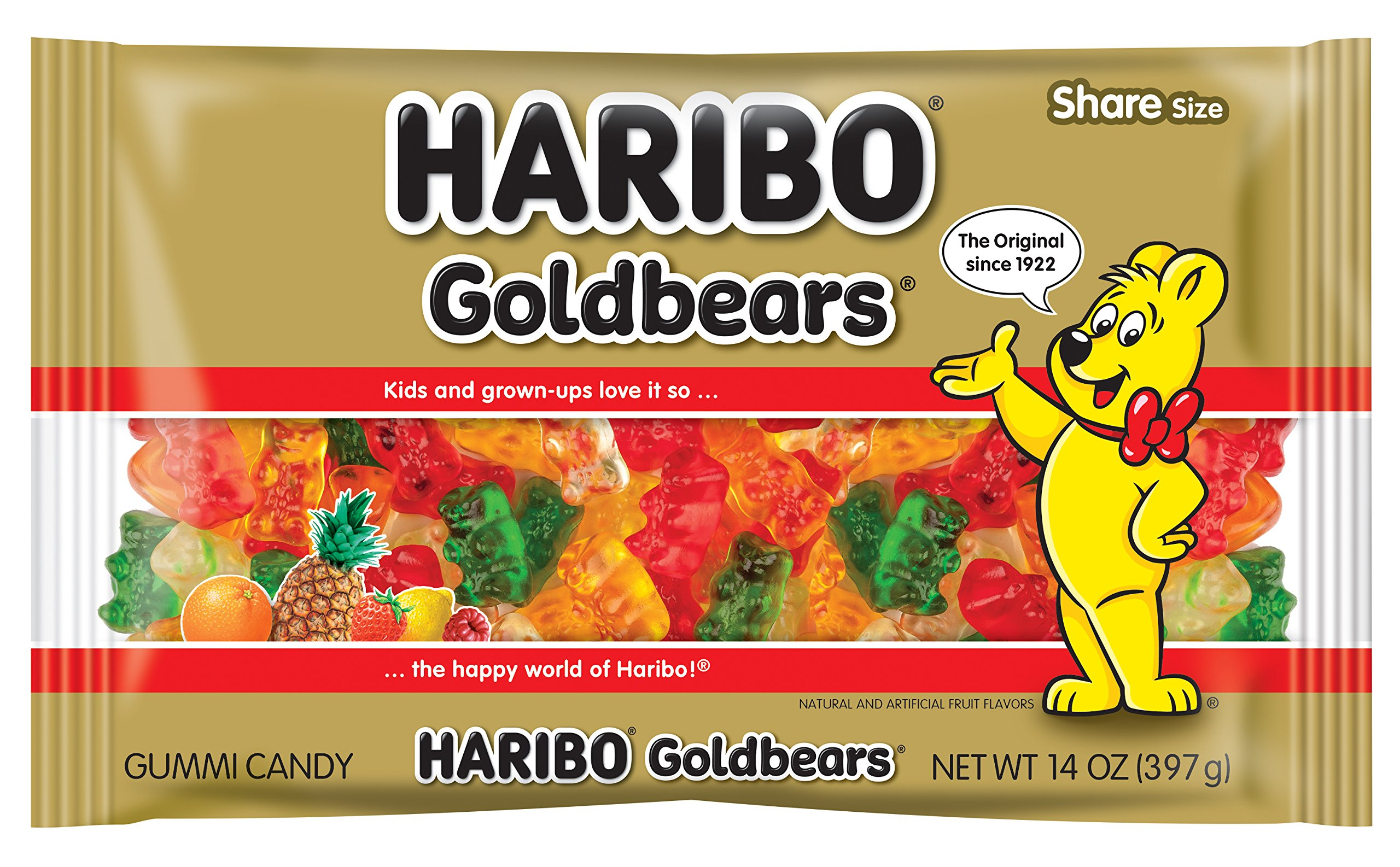 Haribo Goldbears Gummi Candy, 14 Ounce (Pack of 12) by Haribo