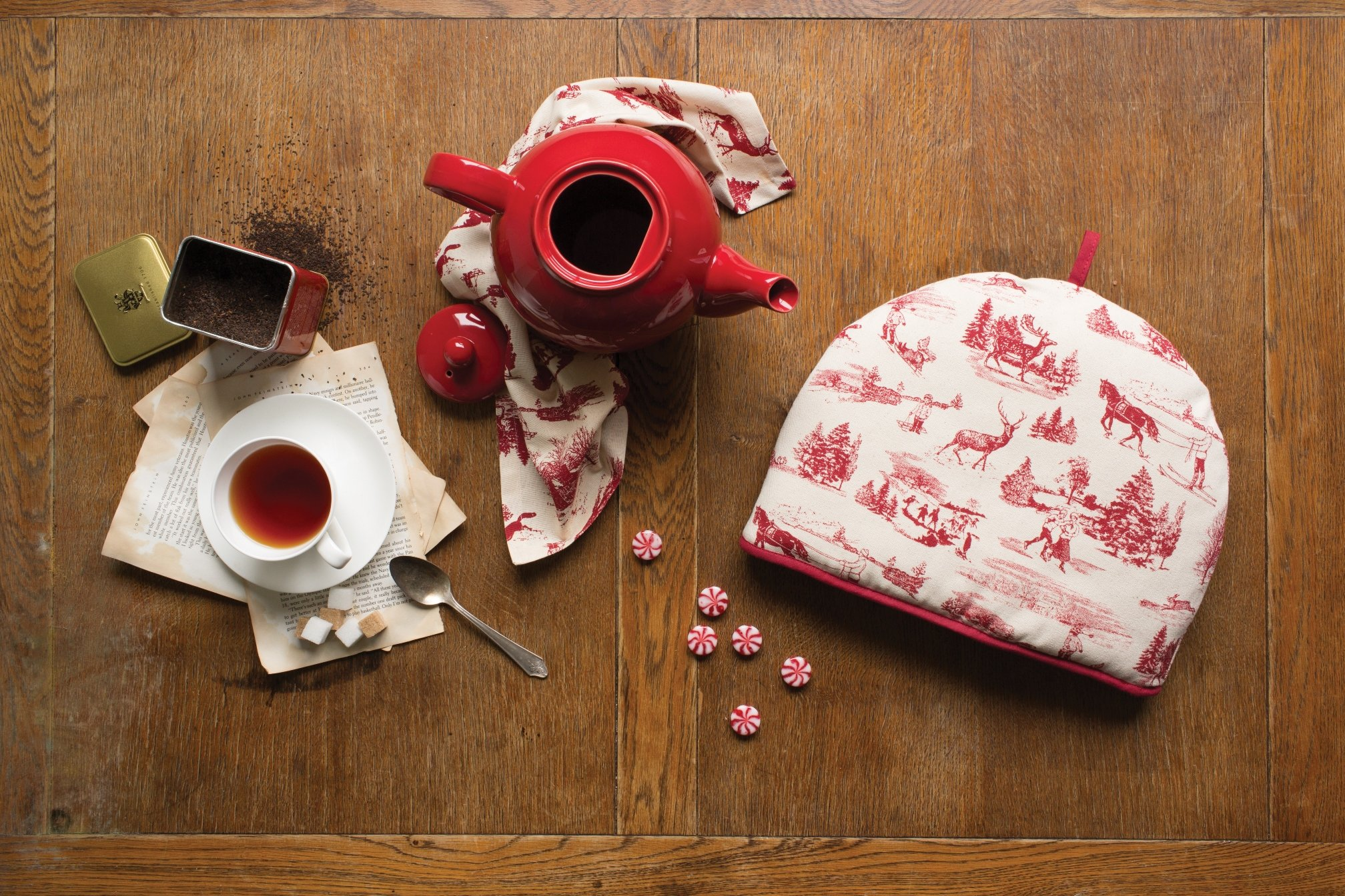 Now Designs Tea Cosy, Holiday Toile Print by Now Designs (Image #2)