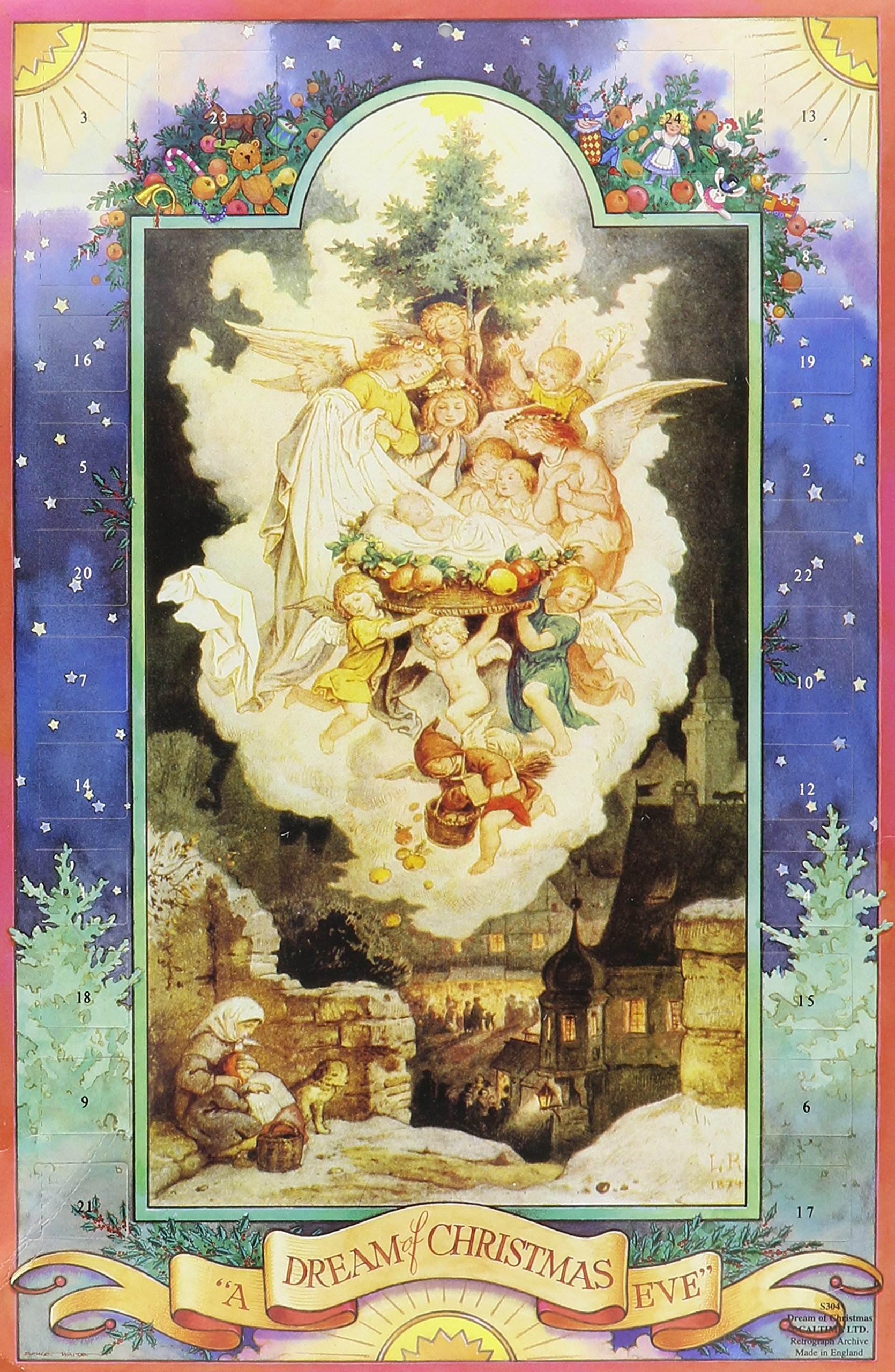 A Dream Of Christmas.A Dream Of Christmas Eve Advent Calendar 9 25 X 15 75