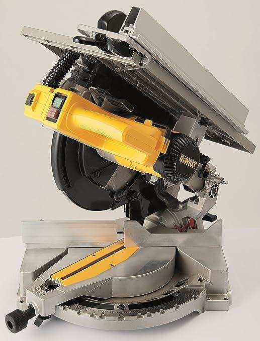 DeWalt Tisch , Kapp und Gehrungssäge Kombisäge (1,600 Watt, 305 mm Sägeblatt ø, für den Langzeiteinsatz geeignet, Staubabsaugung, höhenverstellbar,