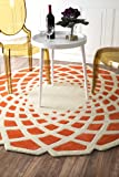 nuLOOM Hand Tufted Lumi Area Rug, 6' Round, Orange