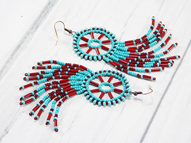 Amazon Handmade Dreamcatcher Pixie Tribal Boho Feather Earrings Inspiration Native American Beaded Dream Catchers