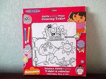 T Shirt Tee Shirt Dora L Exploratrice A Colorier Dora Et Babouche Sont A La Plage Taille 2 4 Ans Amazon Fr Jeux Et Jouets