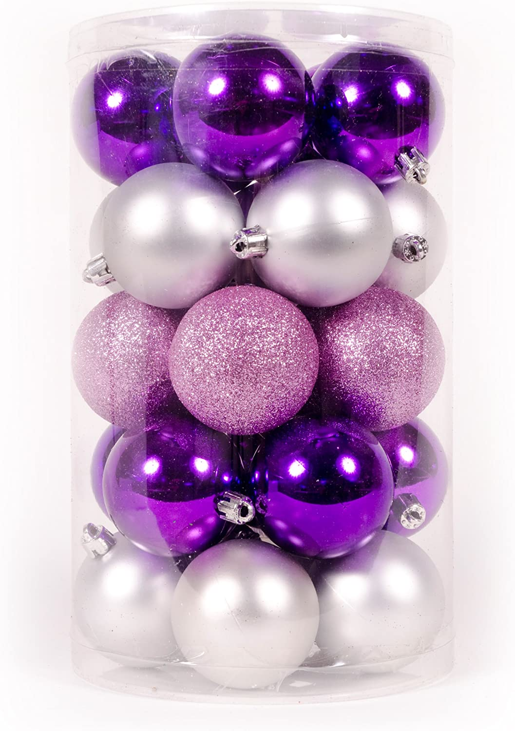 Purple And Silver Christmas Tree Decorations  from images-na.ssl-images-amazon.com