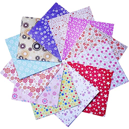 144 Sheets Craft Folding Origami Paper Washi Folding Paper 6 by 6 Inch, 12 Different Colors and Patterns