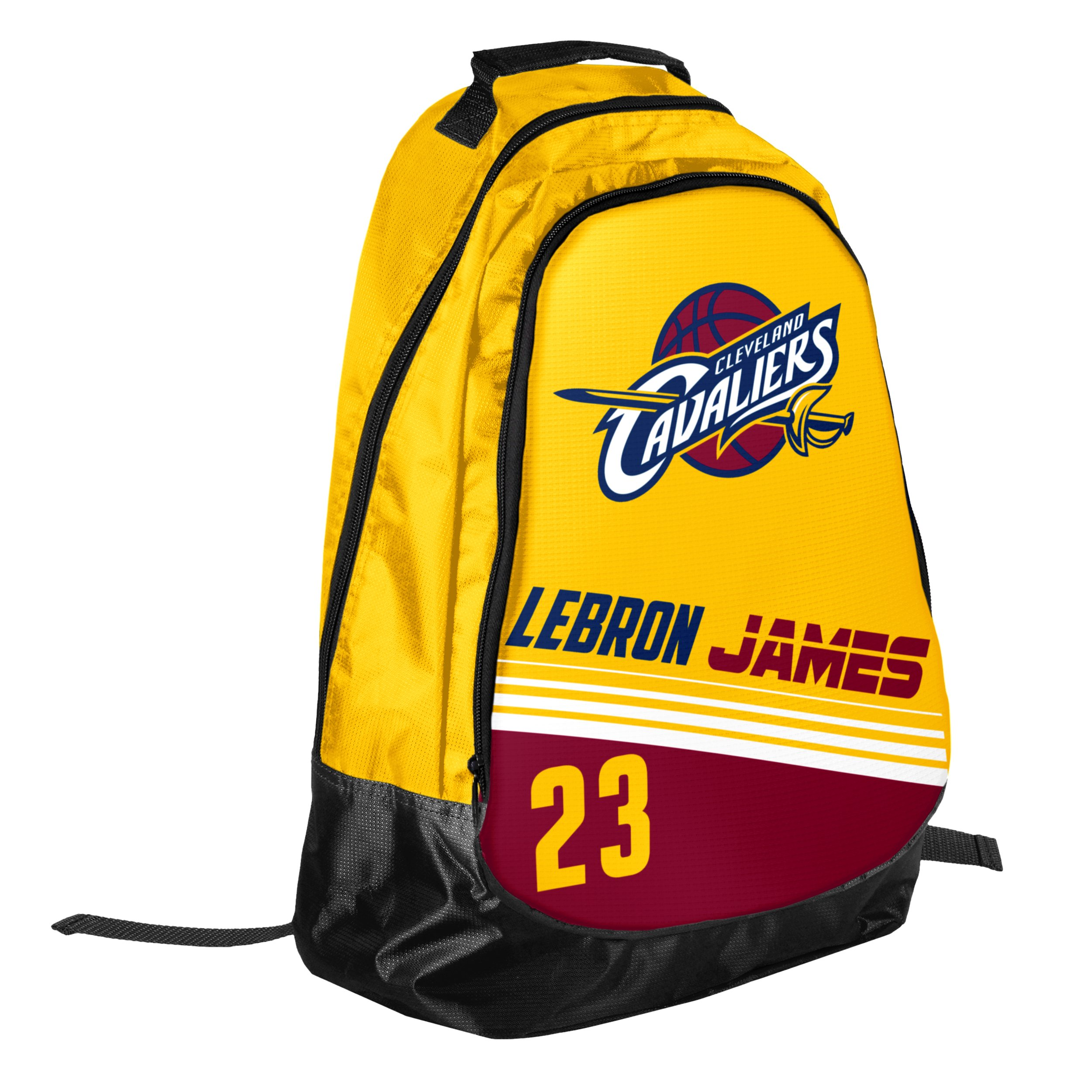 Forever Collectibles Cleveland Cavaliers Team Color Striped Core Backpack - Lebron James #23