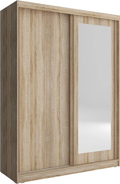 Meublo Armoire Penderie Avec 2 Portes Coulissantes Et Miroir L X