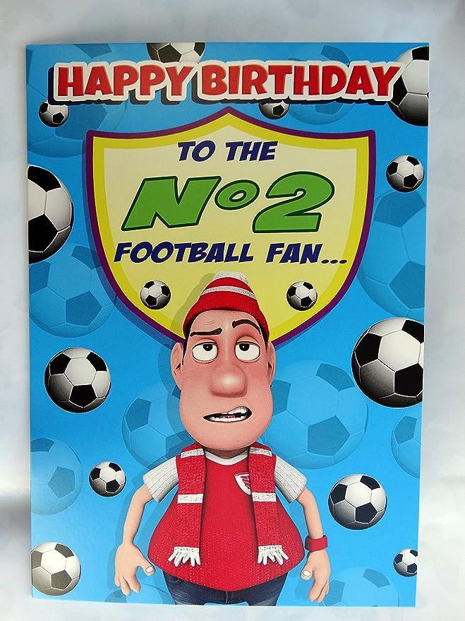 No. 2 del fútbol y bandera de Reino Unido.. Balón de fútbol con ...
